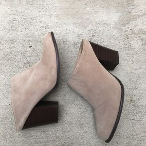 Kenneth Cole tan suede TAP DANCE  BOOTIE